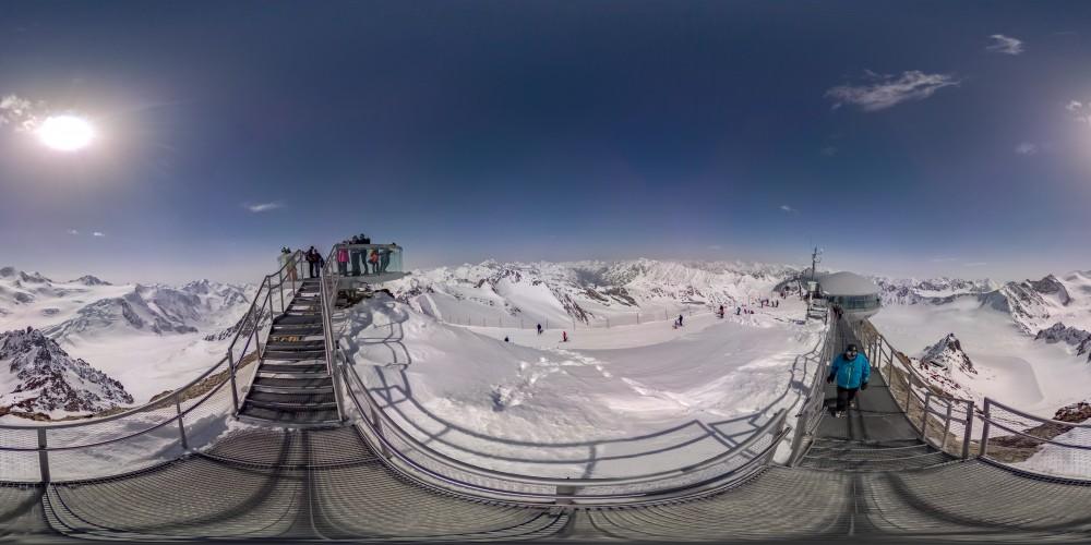 Panoramabild Cafe 3.440m Pitztal