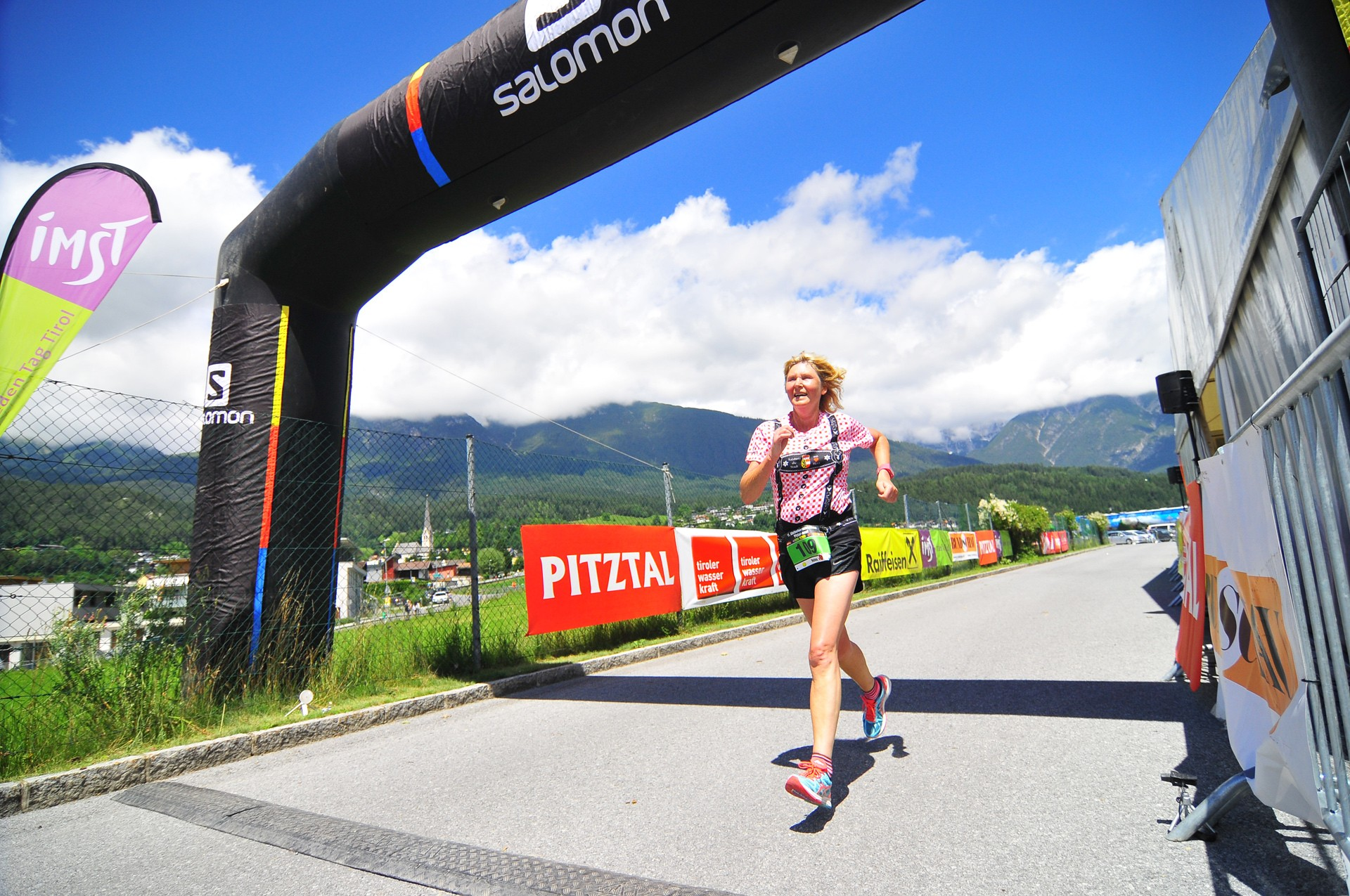 Glacier marathon finish area