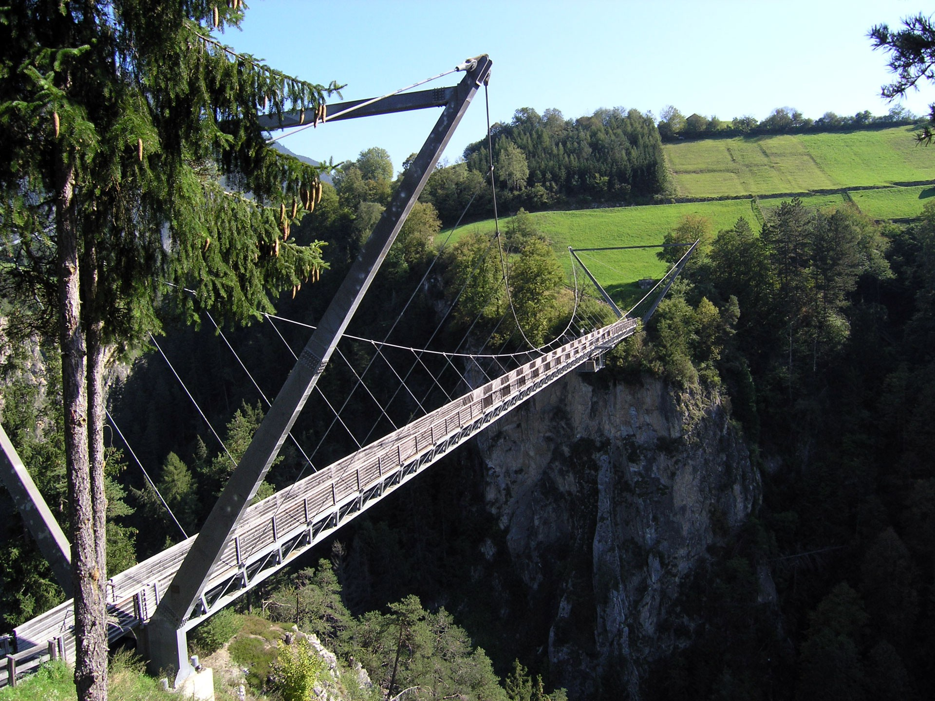 Benni Raich Bridge in Arzl in Pitztal