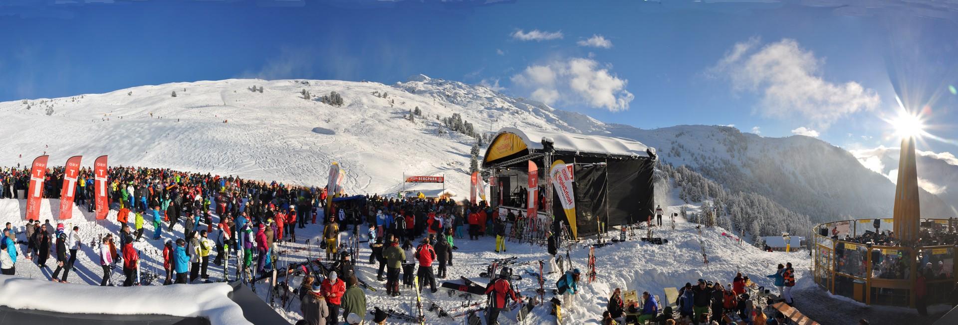 Pitztaler Skiopening an der Mittelstation Hochzeiger
