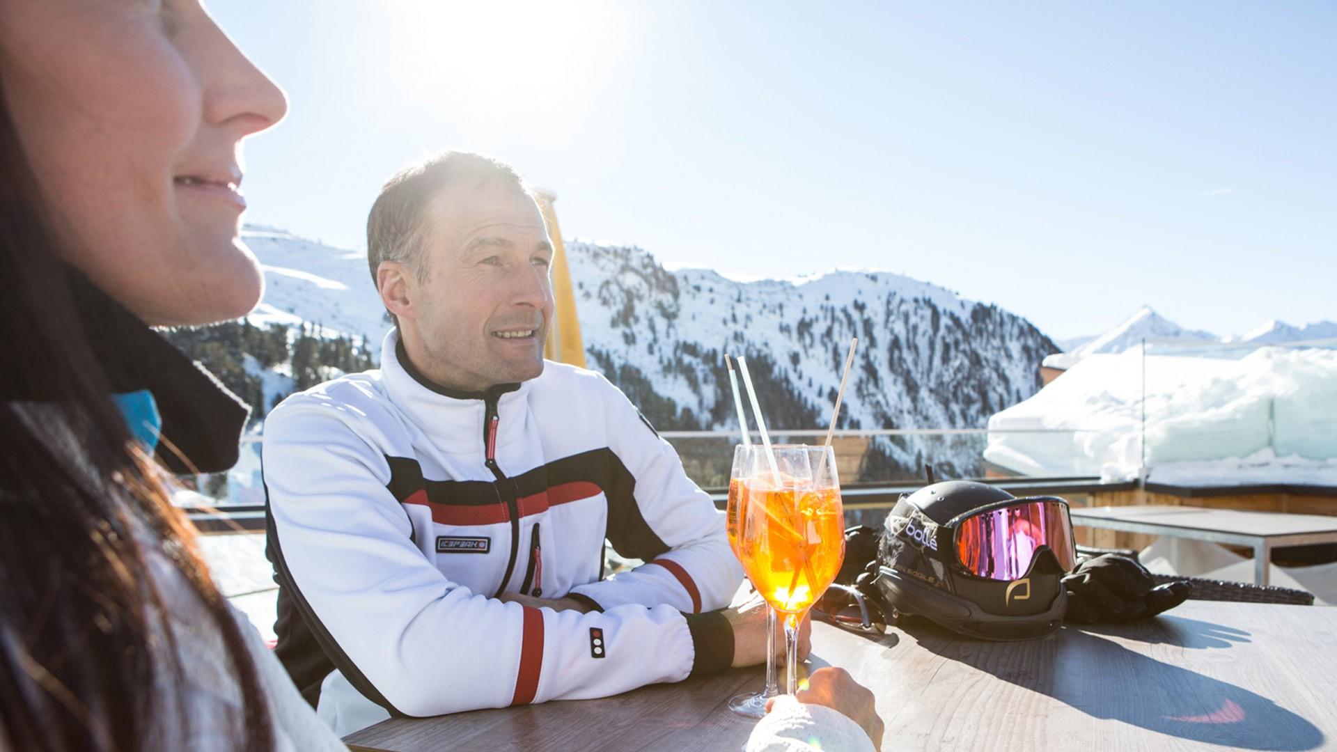 Einkehrschwung Hochzeiger Skigebiet