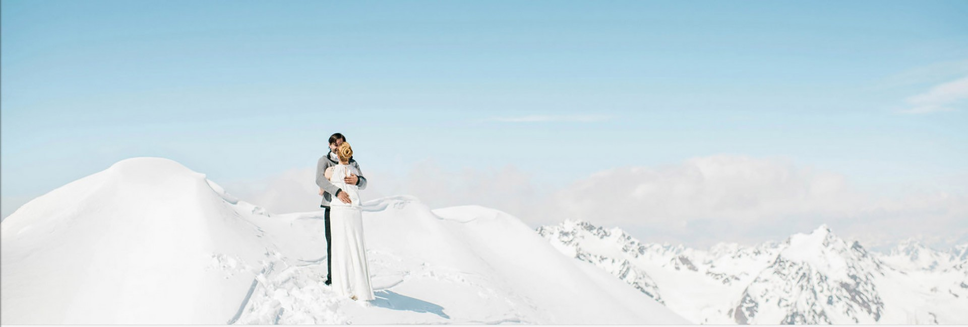 Wedding Ceremony at 3440 meters on Pitztal Glacier