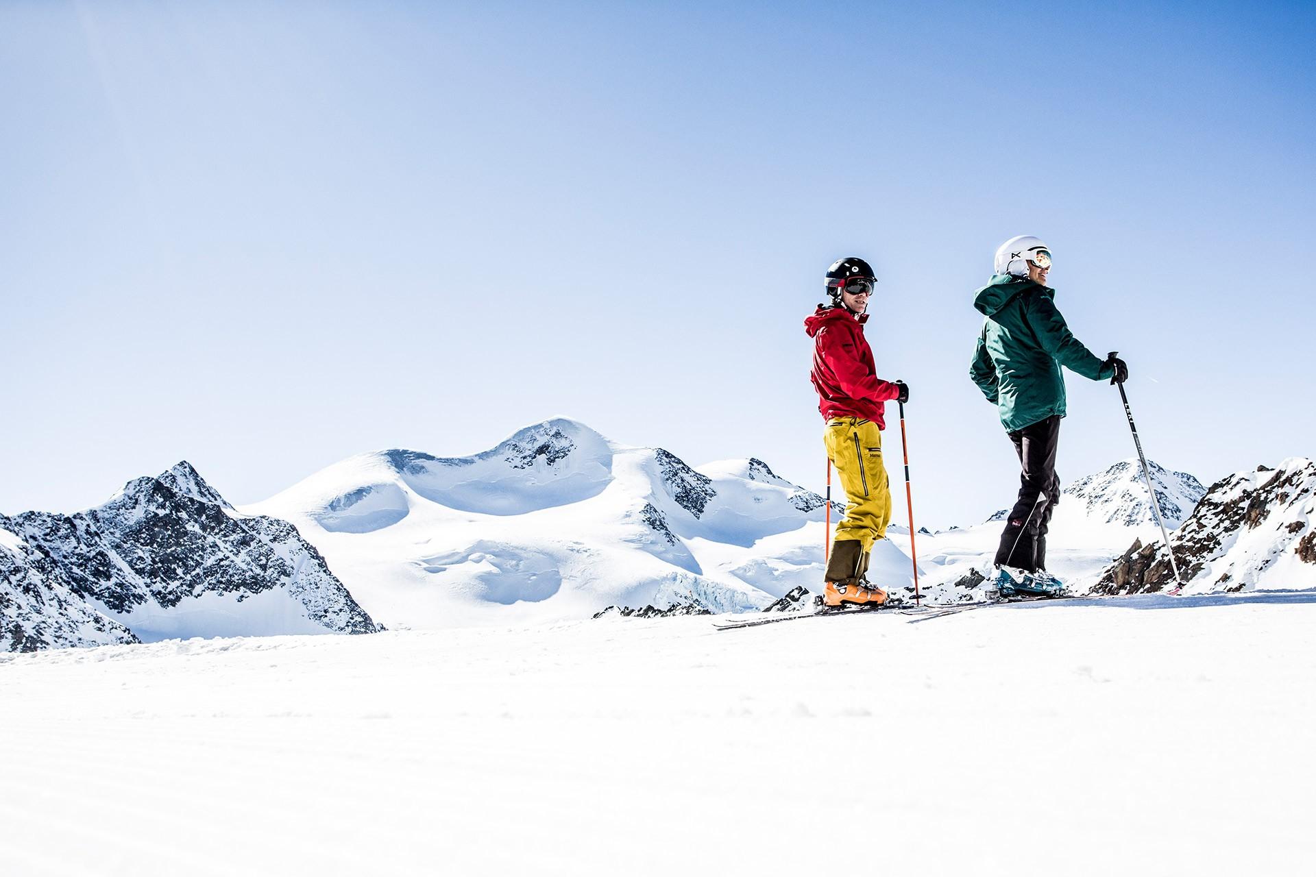 Unterwegs im Gletscherskigebiet Pitztal