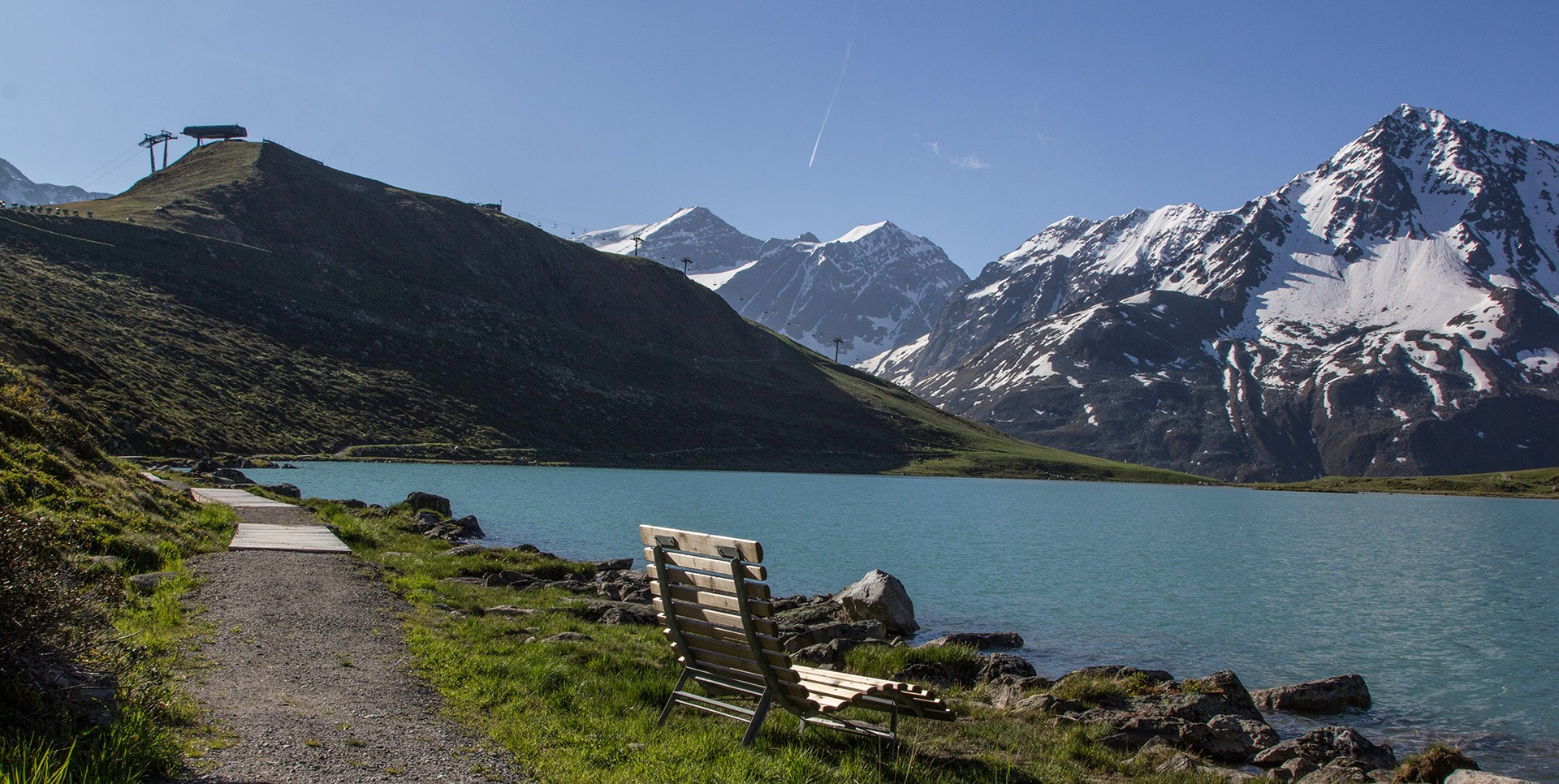 Rifflsee Lake in Pitztal