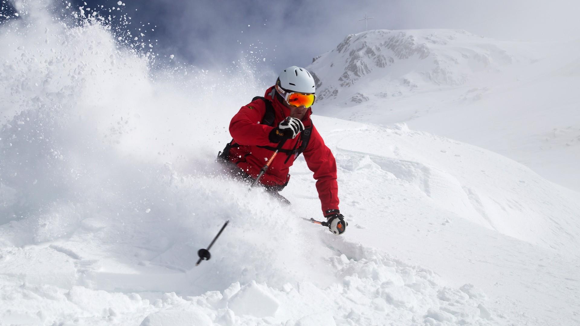 Pulverschnee Skifahren Hochzeiger Pitztal