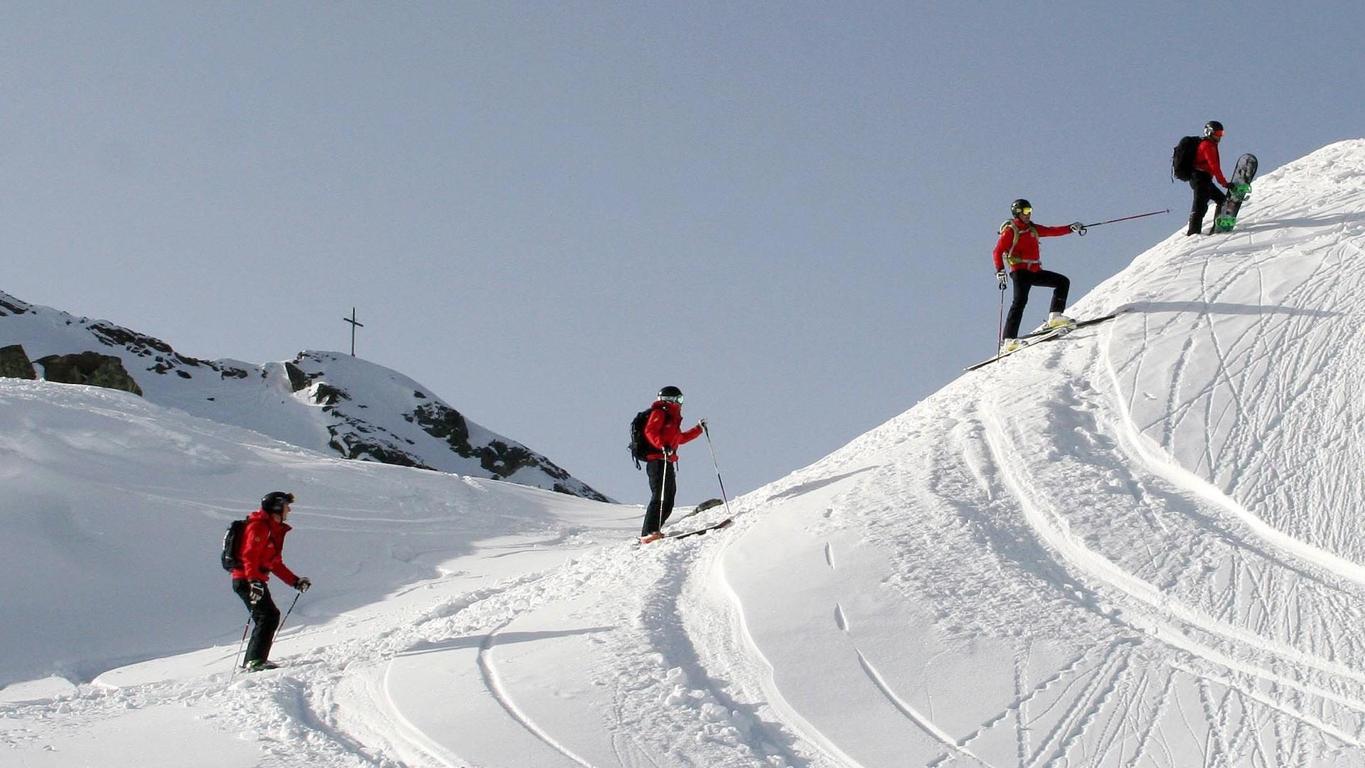 Klettergurt Skitour : Skitour auf die hintere jamspitze in tirol bergwelten