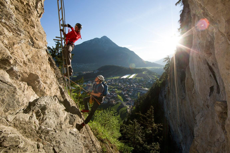 Klettersteig English : Klettersteige aufstiegsvarianten │pitztal