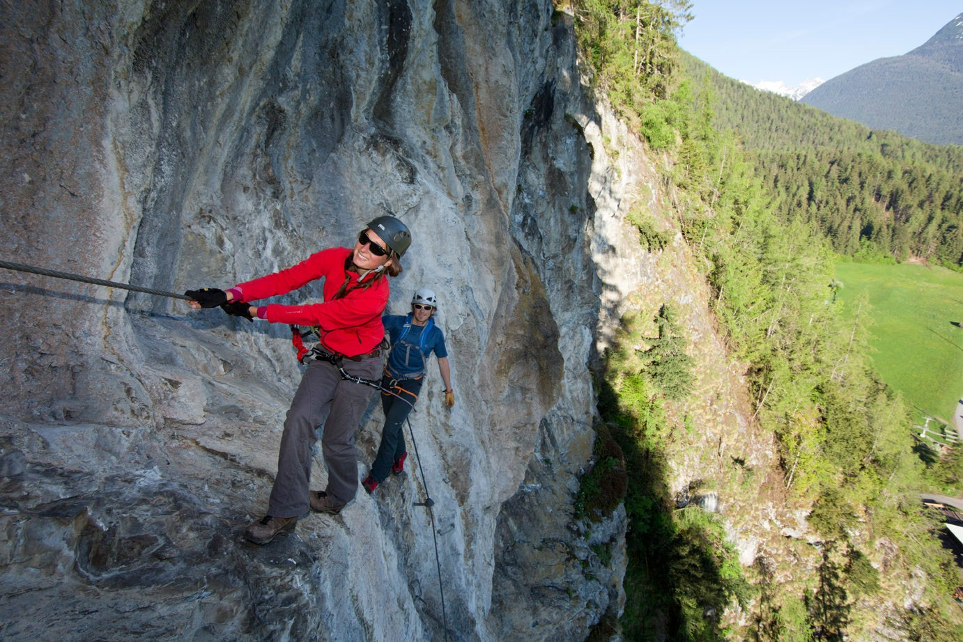 It Goes Up In Three Section At The Steinwand Via Ferrata