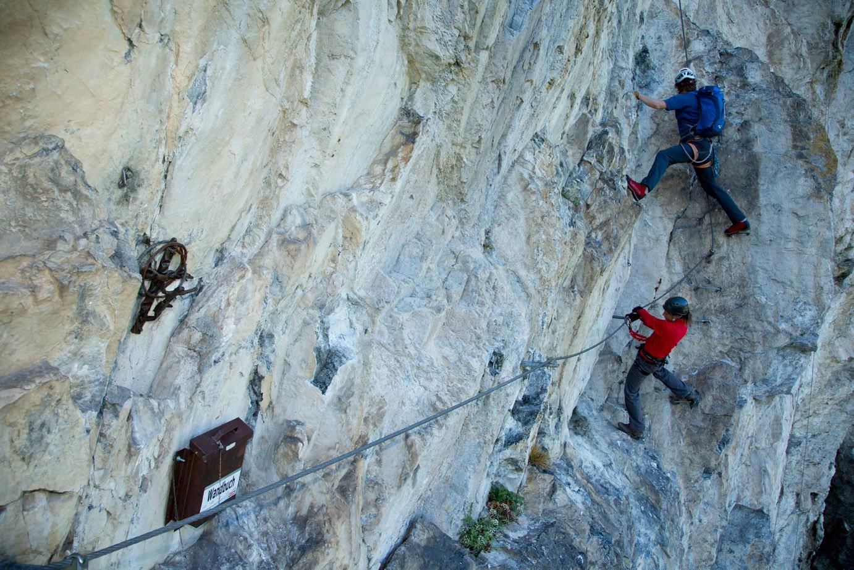 Klettersteig English : Via ferrata klettersteig hotel sportland