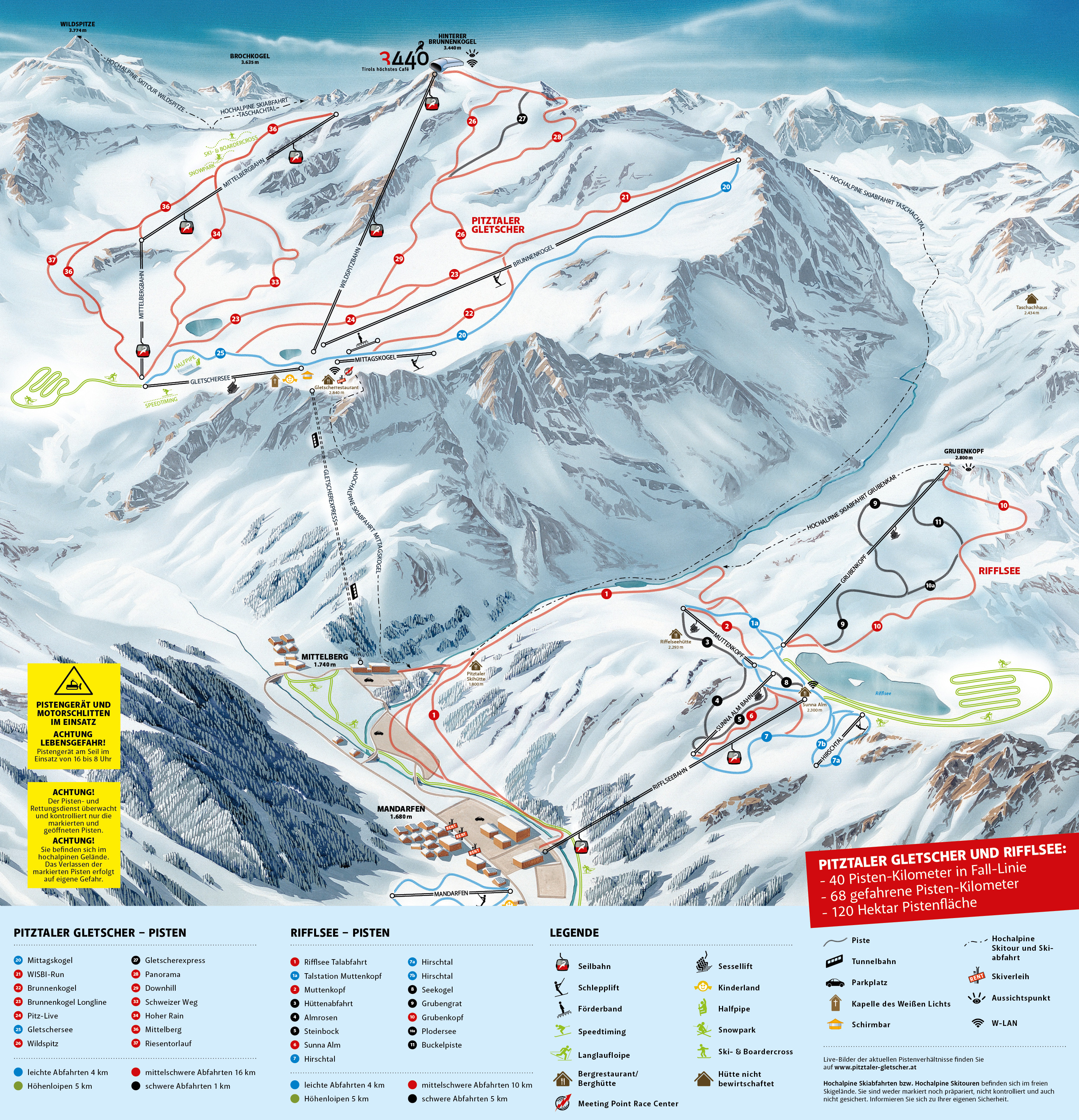 Panorama Digital Pitztaler Gletscher/Tirol