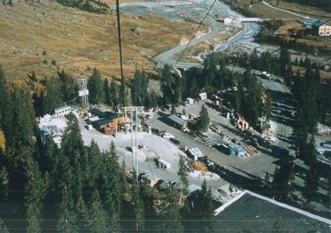 Bau Gletscherbahn im Jahr 1982_c_Ortschronistik St. Leonhard