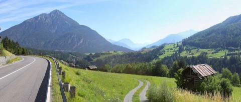 Fantastic view in Pitztal at arrival by car