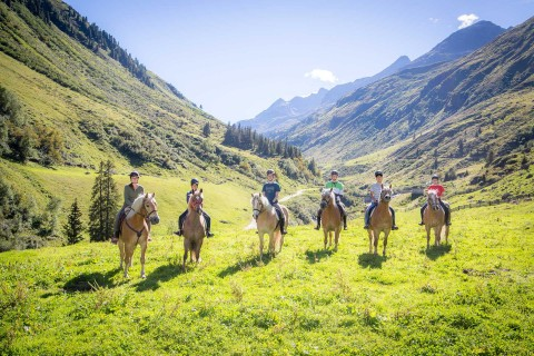 a group of ride in Pitztal