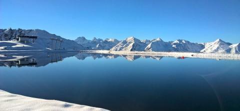 Sechszeiger lake, Hochzeiger ski resort