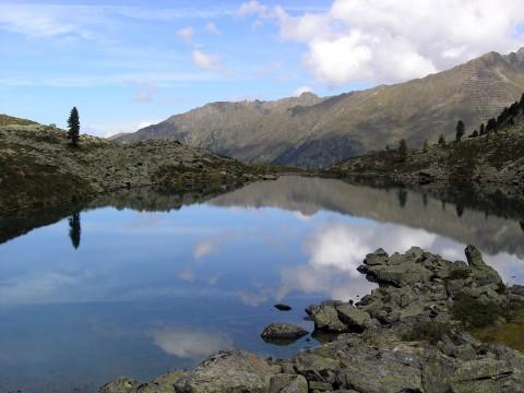 Der Brechsee mit seiner einsamen Zirbe