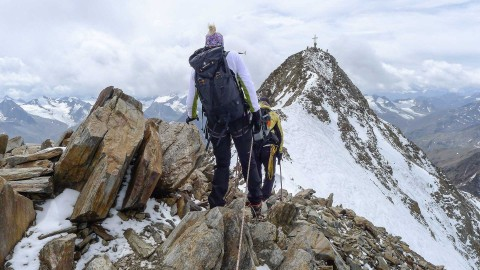 summit tour to the summit Hohe Geige