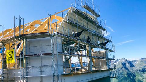 Dachkonstruktion Bergstation