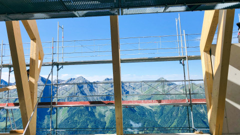 großflächige Panoramafenster
