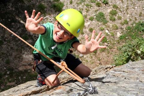 children's climbing in the Pitztal