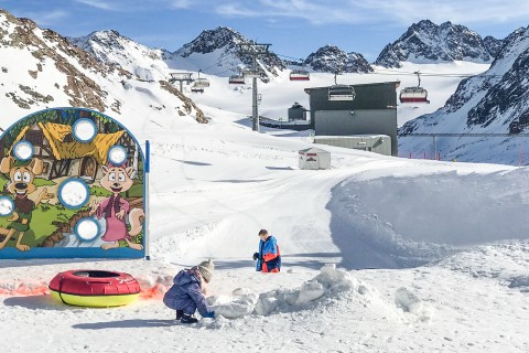 Kids Land and Snow Tubing Run at Pitztal Glacier