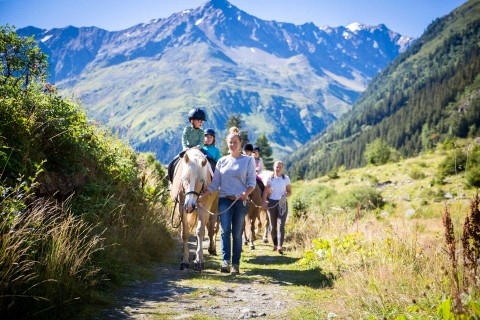 horse-riding for children in Pitztal