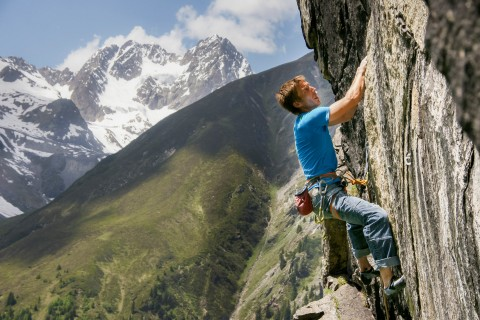 Route im Pitztaler Hexenkessel in Tirol