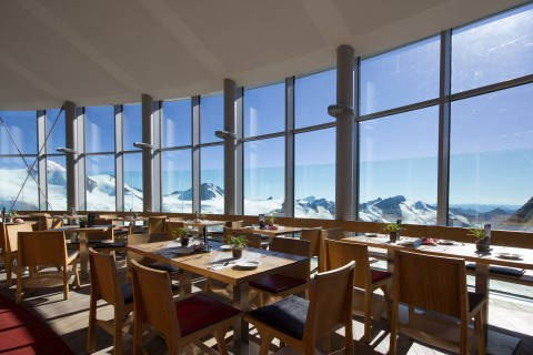 Uninterrupted Views from Café 3.440 at Pitztal Glacier