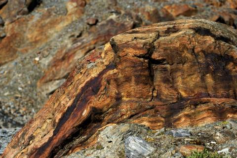 Interessante Gesteinsformen am Pitztaler Gletscher