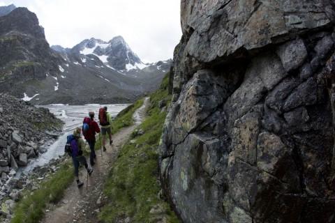 Die Kaunergratrunde bietet beeindruckende Ausblicke auf das Ewige Eis