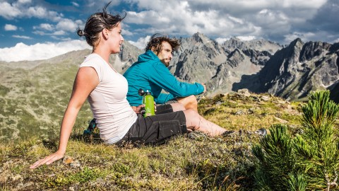Relaxing at Sechszeiger Peak, 2,370 m