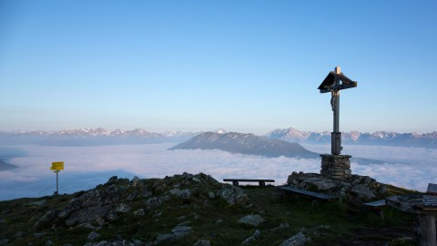 Ausblick Sechszeiger Gipfelkreuz