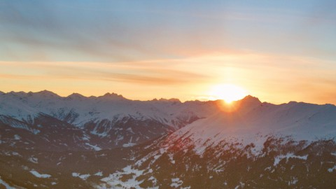 sunrise and sunset Hochzeiger Pitztal