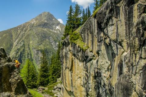 Kletterer im Hexenkessel bei Plangeross