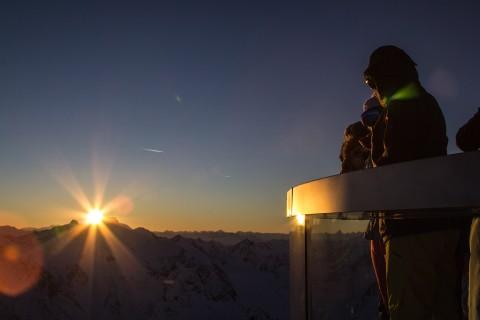 Winterstimmung Café 3.440 Pitztaler Gletscher