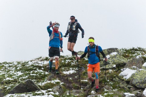 Runners of the Pitz Alpine Glacier Trail