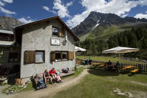 Die Verpeilhütte auf 2.025 m
