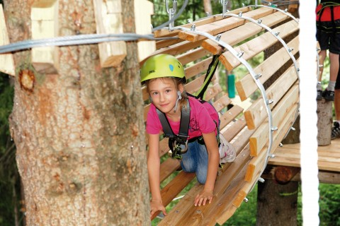 The high ropes course in Pitztal is perfect for families