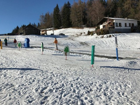 Magic carpet at the Galtwiesen lifts in the village of Wald