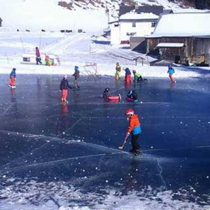 ice skating in Pitztal