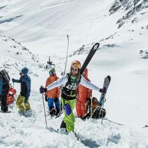 Freeride Schule im Pitztal am Gletscher