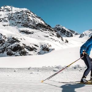 Langlaufen am Pitztaler Gletscher/Tirol