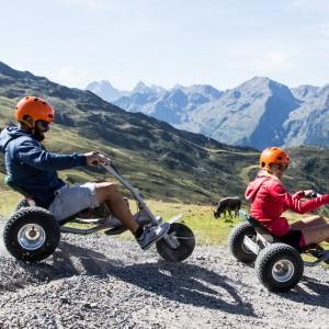 Mountaincart Downhill Spaß mit den ZirbenCarts