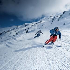 Skifahren im Pitztal in Tirol