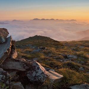 Sonnenaufgang am Sechszeiger, 2.395 Meter