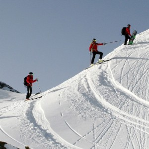 Skilehrer im Pitztal am Gletscher