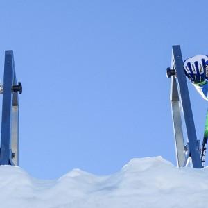 Start auf der Skicross-Strecke am Pitztaler Gletscher