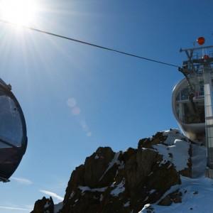 Bergstation der Gletscherbahn im Pitztal