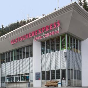 Wohnwagenabstellplatz bei der Talstation Gletscherexpress