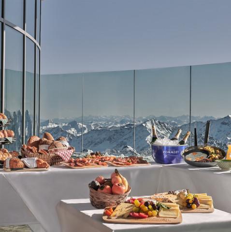 Frühstückstafel Cafe 3440m Pitztal/Tirol