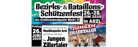 Bezirks- and Bataillonsschützenfest with the Jungen Zillertalern